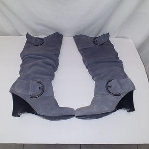 Naughty Monkey women's boots suede grey Sz 7.5